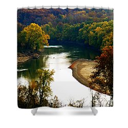 Shower Curtain featuring the photograph Tranquil View by Peggy Franz