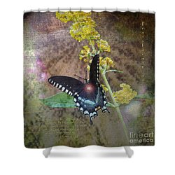 Transformation Shower Curtain by Patricia Griffin Brett