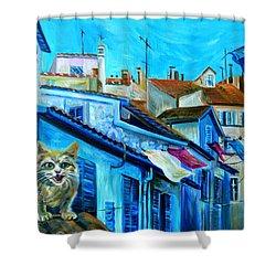 Travel Notebook. Nice. Vieille Ville Shower Curtain