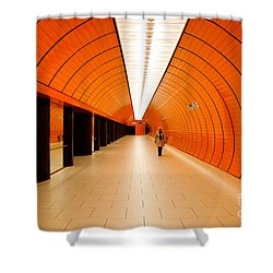 Traveler Shower Curtain by Syed Aqueel