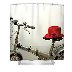 Traveling In Style Shower Curtain by Renee Trenholm
