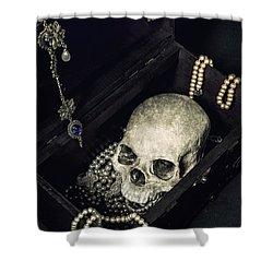 Treasure Chest Shower Curtain by Joana Kruse