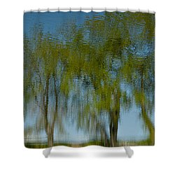 Tree Line Reflections Shower Curtain by Colleen Coccia
