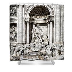 Trevi Fountain Detail Shower Curtain by Joan Carroll