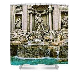 Trevi Fountain Shower Curtain by Eric Tressler