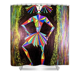 Triangle Woman Shower Curtain
