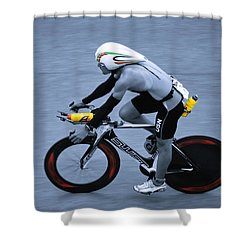 Triathlon Man Shower Curtain