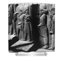 Tribute Bearers, Persepolis, Iran Shower Curtain by Science Source