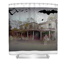 Trick Or Run Like Hell Shower Curtain by Brian Wallace