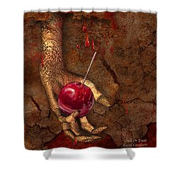 Trick Or Treat Shower Curtain by Carol Cavalaris