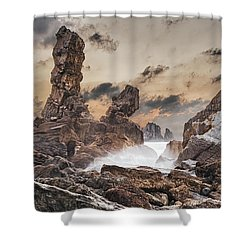 Trident Shower Curtain by Evgeni Dinev