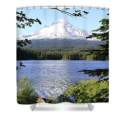 Shower Curtain featuring the photograph Trillium Lake At Mt. Hood by Athena Mckinzie