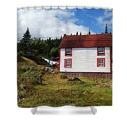 Trinity Road Laundry Shower Curtain