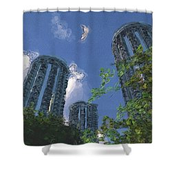 Triton Towers Shower Curtain by Richard Rizzo