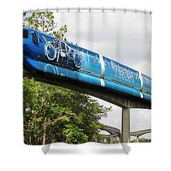 Tron A Rail Shower Curtain by David Lee Thompson