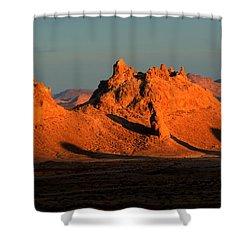 Trona Pinnacles Panorama Shower Curtain by Bob Christopher