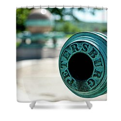 Trophy Point Cannon Shower Curtain