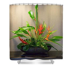 Tropical Arrangement Shower Curtain by Mary Deal