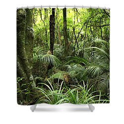Tropical Jungle Shower Curtain by Les Cunliffe