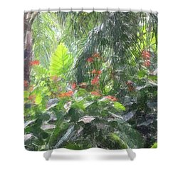 Shower Curtain featuring the photograph Tropical Paradise by Donna  Smith