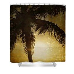 Tropical Paradise Shower Curtain by Sharon Mau
