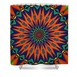 Shower Curtain featuring the digital art Tropical Punch by Alec Drake