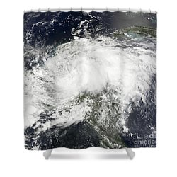 Tropical Storm Arthur Shower Curtain by Stocktrek Images