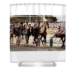Shower Curtain featuring the photograph Trotting 3 by Pedro Cardona