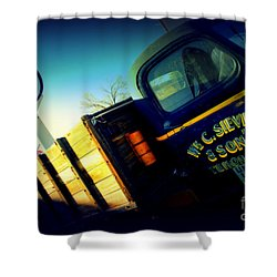 Truck On Route 66 Shower Curtain by Susanne Van Hulst