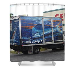 Truck Wraps Shower Curtain by Carey Chen