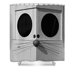 Truly Nolen Rat In Black And White Shower Curtain by Rob Hans