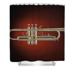 Trumpet Red Spotlight  Shower Curtain