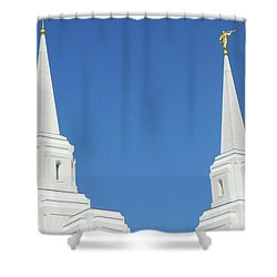 Trumpeting The Arrival Of The Lord Shower Curtain by Gary Baird