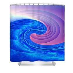 Tsunami Vi Shower Curtain by Kenneth Armand Johnson