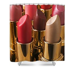 Tubes Of Lipstick Shower Curtain by Garry Gay