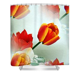 Tulip Abstract Shower Curtain by Marilyn Hunt