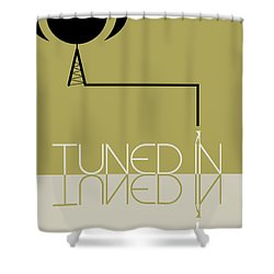 Tuned In Poster Shower Curtain by Naxart Studio
