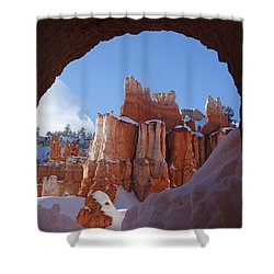 Shower Curtain featuring the photograph Tunnel In The Rock by Susan Rovira