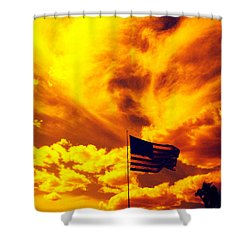 Turbulant America Shower Curtain
