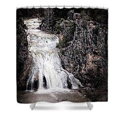 Turner Falls Roar Shower Curtain by Tamyra Ayles