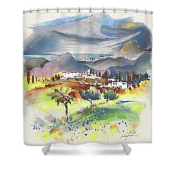Turre In Spain 03 Shower Curtain by Miki De Goodaboom