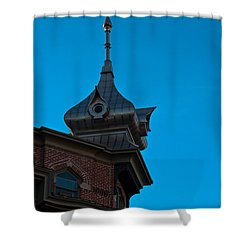 Shower Curtain featuring the photograph Turret At Tampa Bay Hotel by Ed Gleichman