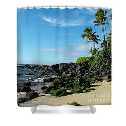 Turtle Beach Oahu Hawaii Shower Curtain