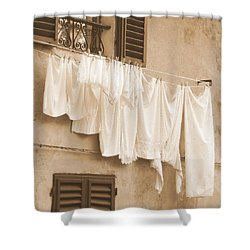 Tuscan Laundry Shower Curtain by Ramona Johnston