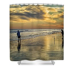 Twilight Fishing Shower Curtain by Phill Doherty