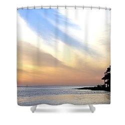 Twilight On The Gulf Shower Curtain by Judy Hall-Folde