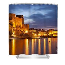 Twilight Over Collioure Shower Curtain by Brian Jannsen