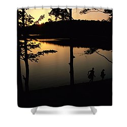 Twilight Over Walden Pond, Made Famous Shower Curtain by Tim Laman