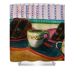 Shower Curtain featuring the painting Twin Devil's Food by John Williams