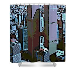 Twin Towers Shower Curtain by George Pedro